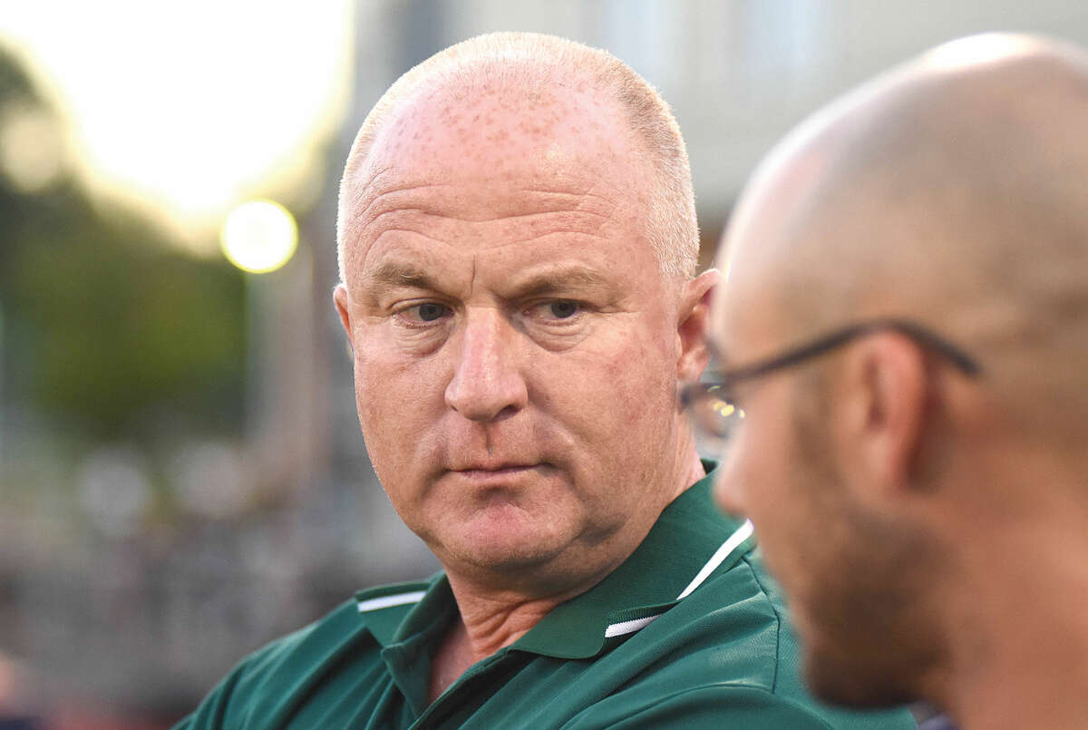 Norwalk High athletic director Doug Marchetti, seen here on the sidelines of an event earlier this fall, has filed a report of Friday night's football game fiasco with the Superintendent of Schools. (Hour photo/John Nash)
