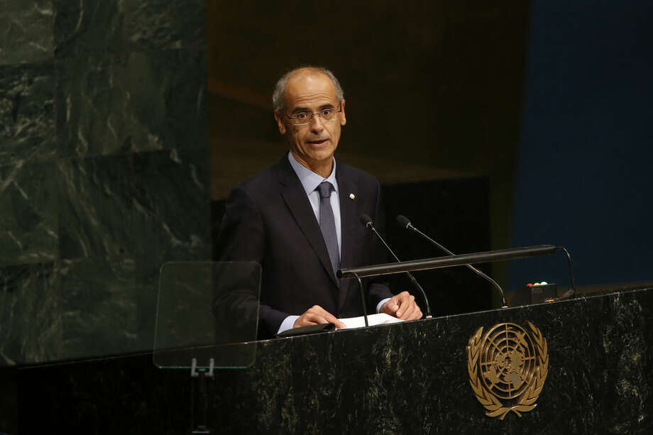 Andorra's head of government Antoni Marti Petit addresses the 70th session of the United Nations General Assembly at U.N. headquarters, Friday, Oct. 2, 2015. (AP Photo/Jason DeCrow)