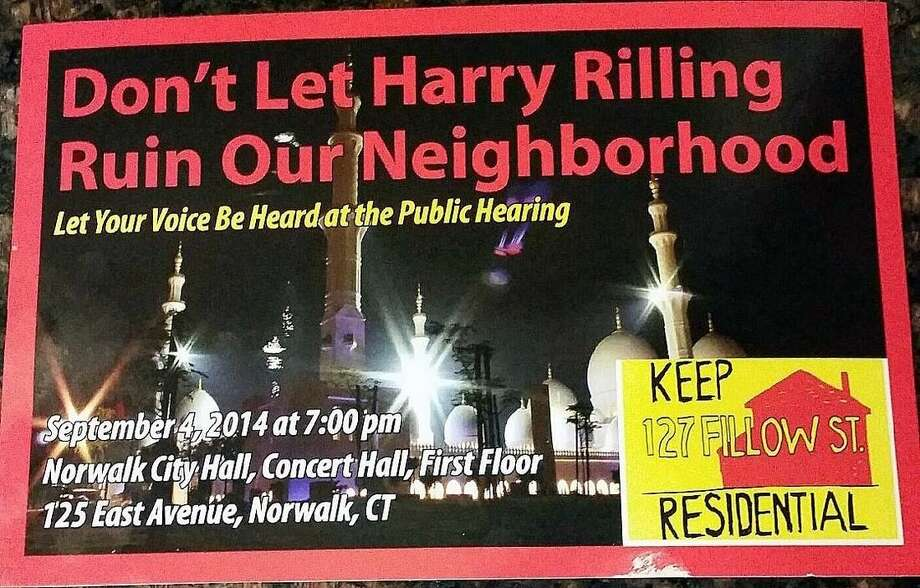 Contributed photosAbove, postcards were mailed to homeowners who live in the neighborhood of the proposed mosque. The Hour is not aware of who was behind the mailings.