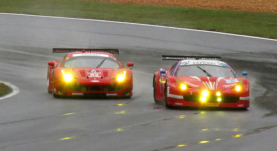Team Scuderia Corsa ferrari on track during the 2015 Petite LeMans at Road Atlanta