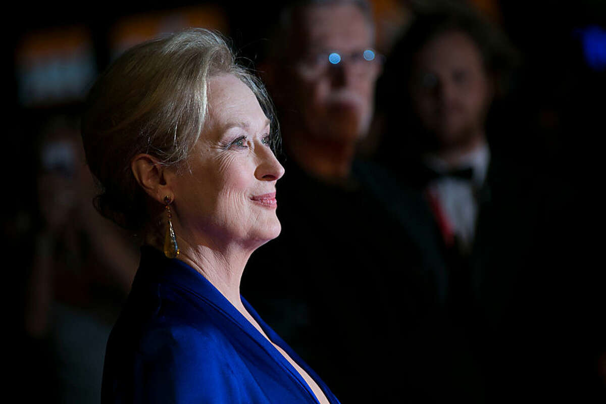 Meryl Streep poses for photographers upon arrival at the premiere of the film Suffragette, which is also the opening gala of the London film festival in London, Wednesday, Oct. 7, 2015. The festival runs from Oct. 7 until Oct. 18. (Photo by Joel Ryan/Invision/AP)