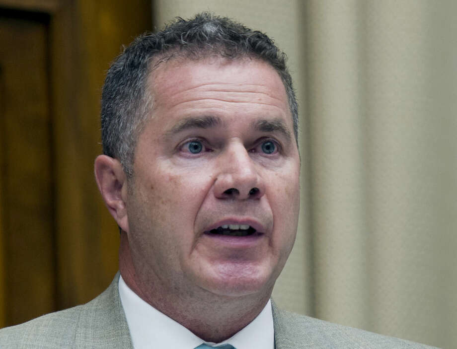"""This June 18, 2014 file photo shows Iowa Democratic Senate candidate, Rep. Bruce Braley, D-Iowa, on Capitol Hill in Washington. The first midterm elections since both parties embraced a historic change in campaign finance, and with it a sea of campaign cash, will mean for most voters an avalanche of television ads trying to reach the few able to be swayed and willing to vote. In the nation's closest races for U.S. Senate, that translates into """"price per vote"""" that could easily double what was spent in the 2012 presidential election. (AP Photo/Cliff Owen, File)"""