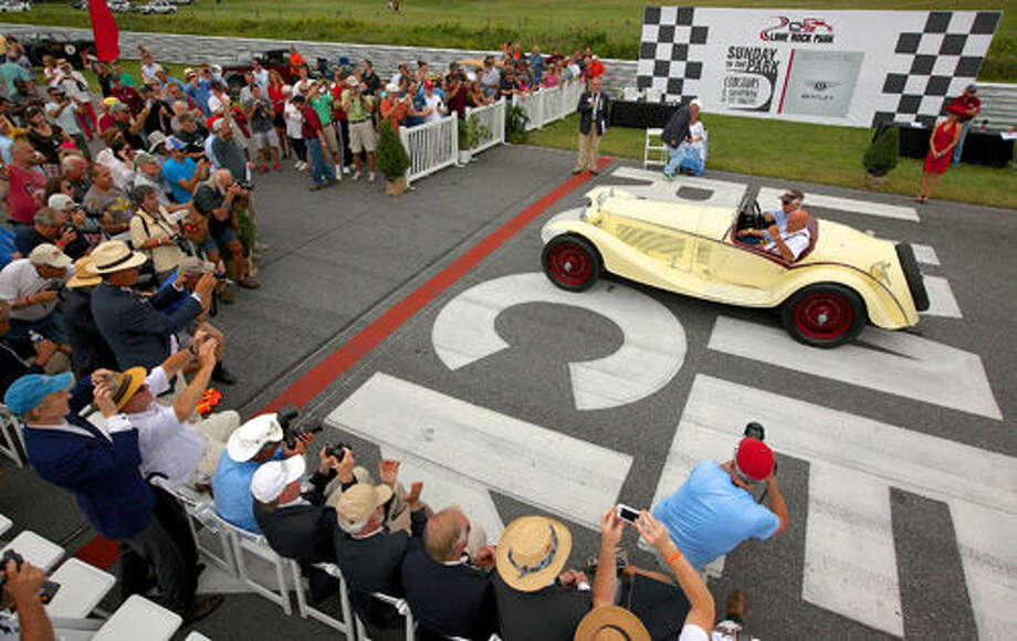 Stamford resident Peter Sachs and his 1933 Alfa Romeo 8C 2300 took home Best of Show at the 32nd Park Councour d'Elegance at Lime Rock Park on Sunday.