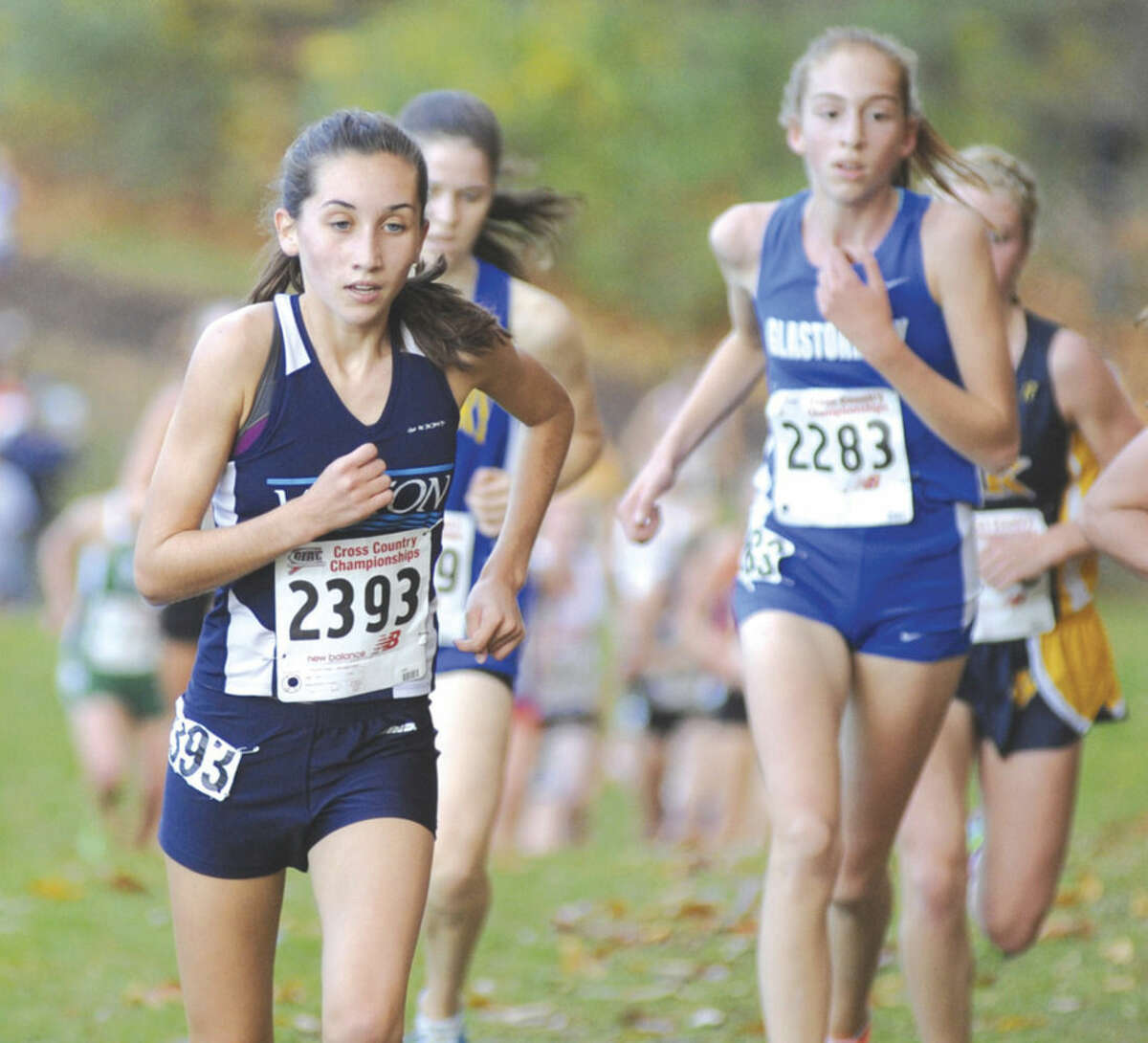 Hour photo/John Nash Wilton's Mary Lynch will be one of the top runners for a program that last four seniors while winning the Class L title last fall.