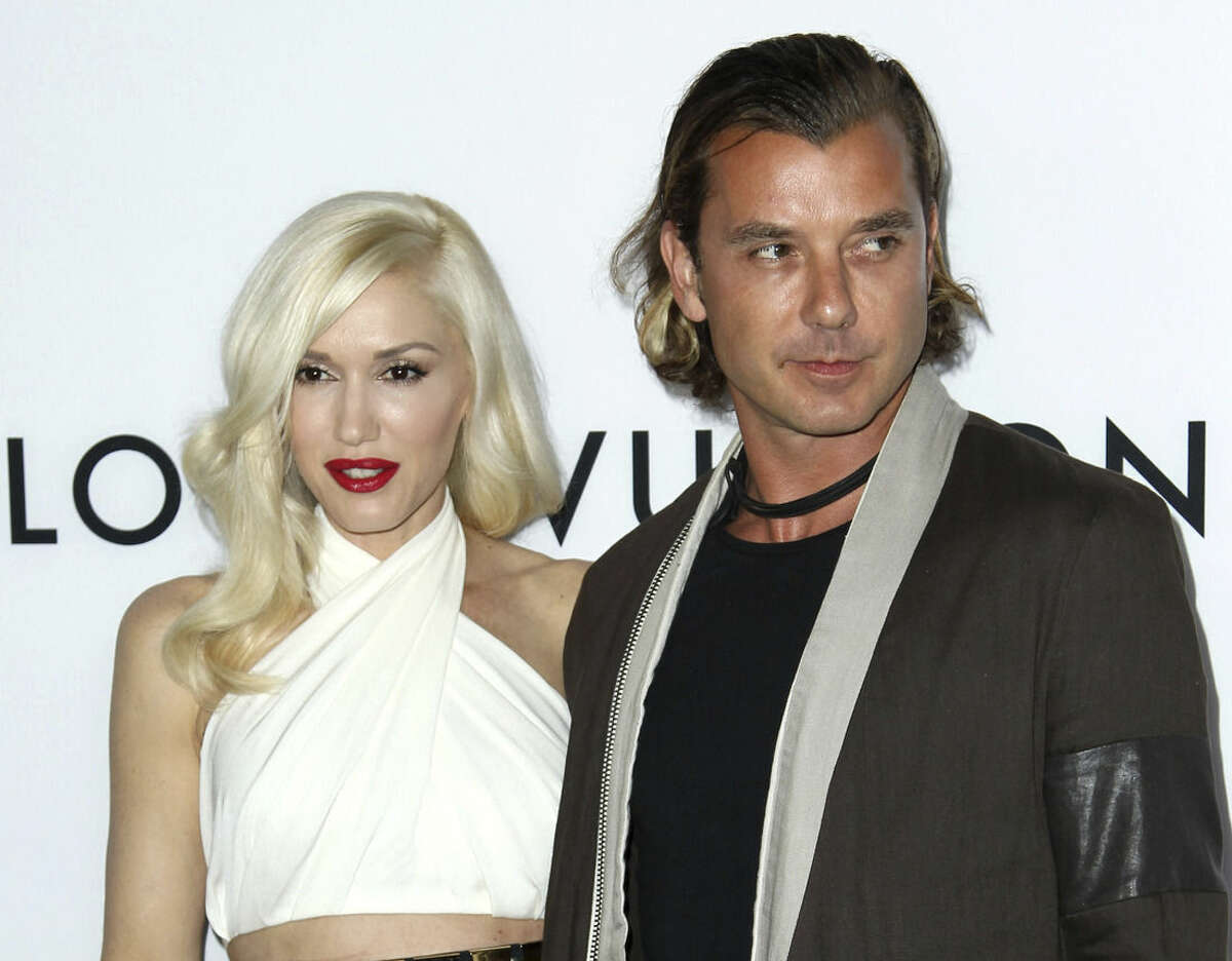 FILE - In this June 4, 2013 file photo, Gavin Rossdale, right, and Gwen Stefani arrive at the LA premiere of