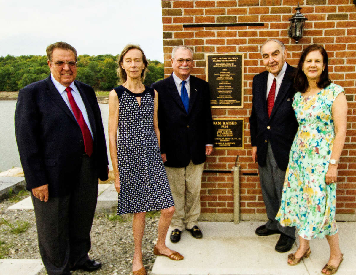Contributed photo From left to right, Dominick M. DiGangi, P.E. General Manager, Commissioner Marija Byrant, Commissioner Thomas Cullen, Commissioner and Chairman Frank A, Zullo and Treasurer Elsa Peterson Obuchowski all of the First Taxing District.