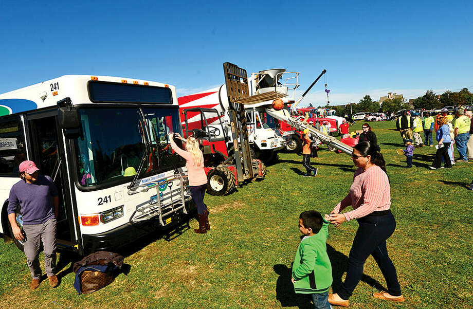 Hour photo / Erik Trautmann The Human Services Council's 4th Annual KIDZFEST Touch-A-Truck & More Fundraiser to benefit Children's Connection Saturday, October 10, 2015 at Taylor Farm Park in Norwalk. The hands-on interactive family event featured over 60 vehicles that dig, climb, rescue, crunch, honk and fly.