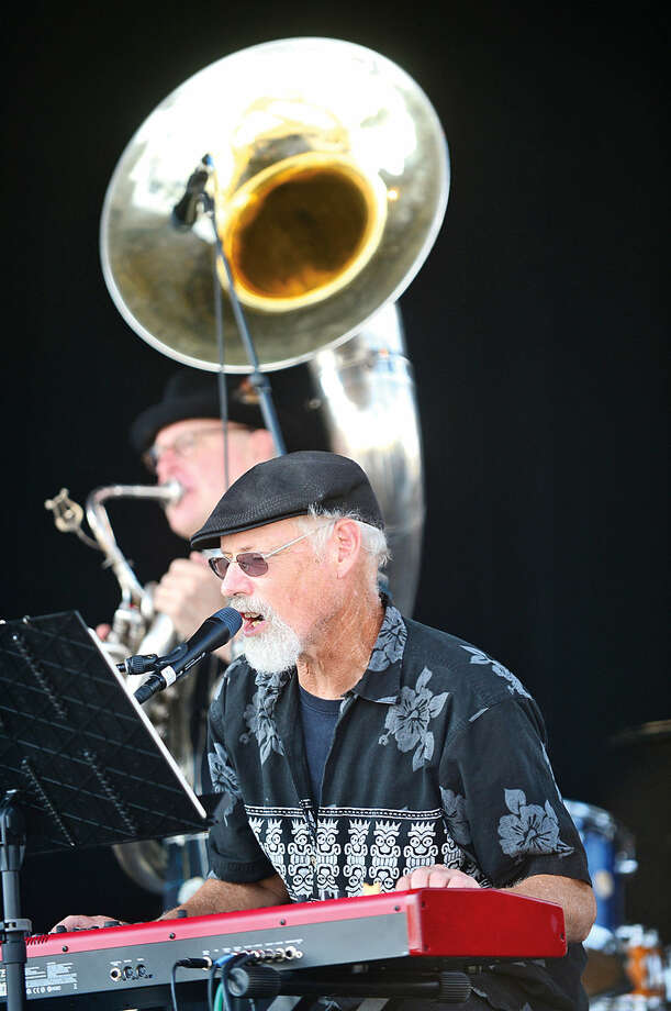 Hour photo / Erik Trautmann The New Orleans Beatniks perform during the Norwalk Seaport Association's 37th annual Oyster Festival at Veteran's Park Saturday.