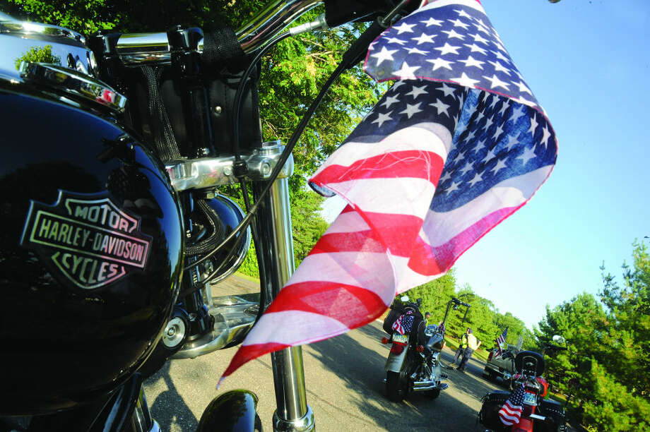 Bikers from all over the area gather Sunday at the Ct. United Ride that leaves from Nordon Park every year, remembering September 11th 2001. Hour photo/Matthew Vinci