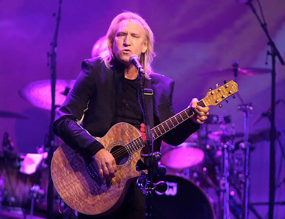 Joe Walsh of the band The Eagles performs in a solo concert at The Fillmore on Monday, Oct. 12, 2015, in Philadelphia. (Photo by Owen Sweeney/Invision/AP)