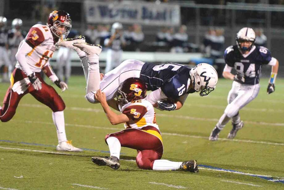 Hour Photo/Alex von Kleydorff St. Joseph at Wilton Football