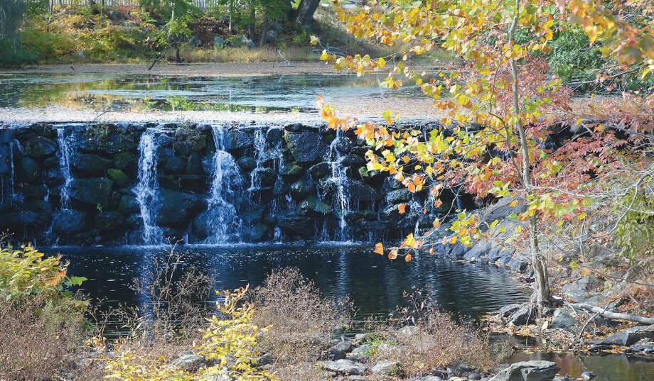 Hour Photo/Alex von KleydorffFall foliage near the waterfall along the Silvermine River in Norwalk.Photo appeared on front page of Saturday, October 17, 2015 edition.