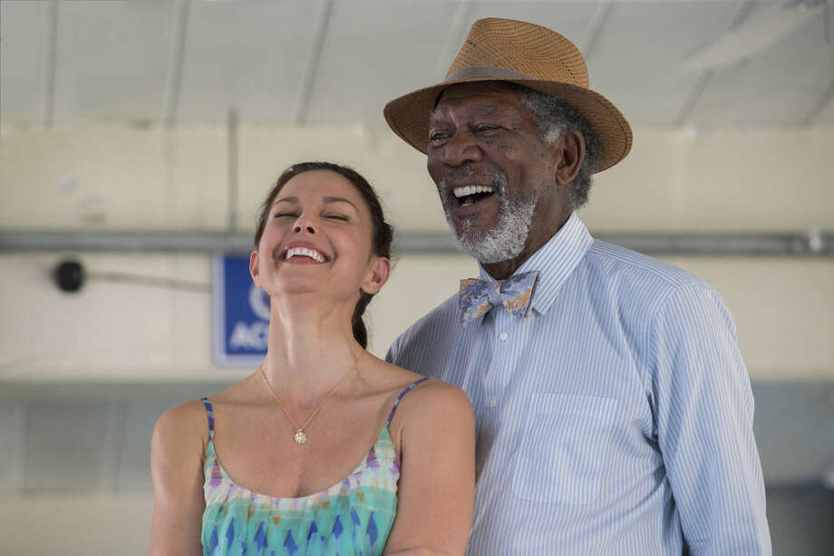 "This photo released by Warner Bros. Pictures shows Morgan Freeman, right, as Dr. Cameron McCarthy, and Ashley Judd as Lorraine Nelson, in a scene from the film, ""Dolphin Tale 2."" The film releases on Sept. 12, 2014. (AP Photo/Warner Bros. Pictures, Copyright Alcon Entertainment, LLC, Wilson Webb)"
