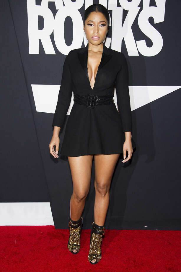 Nicki Minaj attends Fashion Rocks on Tuesday, Sept. 9, 2014 at the Barclays Center in the Brooklyn borough of New York. (Photo by Charles Sykes/Invision/AP)