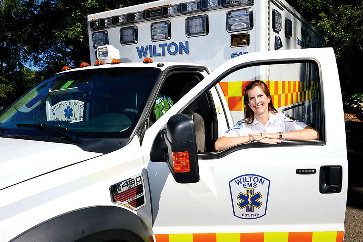 Wilton EMT Nancy Capelle and the Wilton Volunteer Ambulance Corps are planning a new recruitment drive for EMTs.