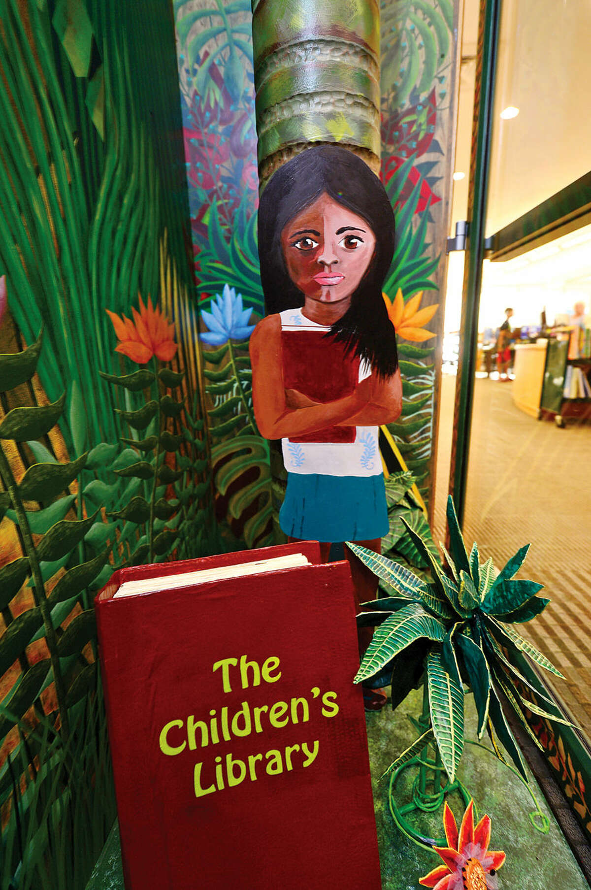 Wilton Library held a ribbon cutting ceremony Thursday evening for the newly decorated entrance to the Children's Library.