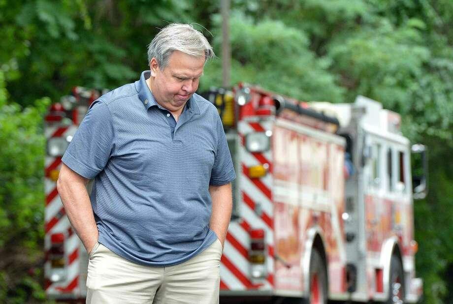 Hour Photo/Alex von Kleydorff Wilton's 13th Annual 9-11 Memorial Service at Wilton fire Headquarters