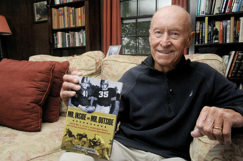 "Author Jack Cavanaugh and his latest book ""Mr. Inside and Mr. Outside,"" which tells the story of Army's undefeated football teams during World War II>"
