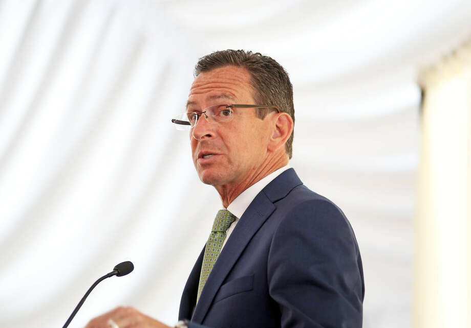 Governor Dannel P. Malloy speaks at the 27th annual meeting of the Stamford Chamber of Commerce at Hilton Stamford Hotel & Executive Meeting Center Friday afternoon. Hour Photo / Danielle Calloway