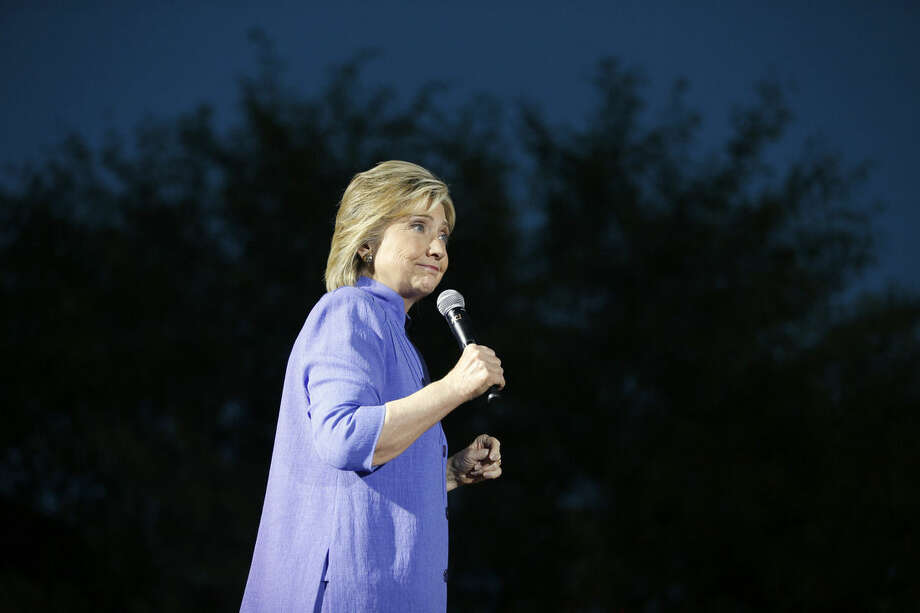 AP Photo/John Locher, FileIn this Wednesday, Oct. 14, file photo, Democratic presidential candidate Hillary Rodham Clinton speaks at a rally in Las Vegas.