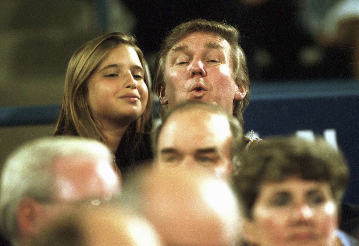 Ivanka, shown with her father in 1994 at the U.S. Open in New York, was born in 1981. Her parents divorced when she was 9.
