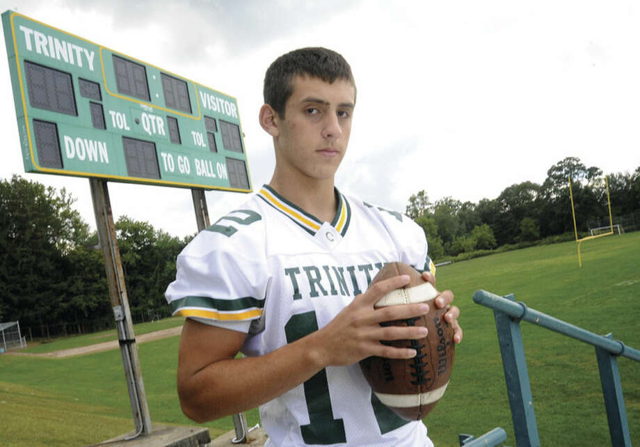 ANTHONY LOMBARDI, Trinity football. Photo/Matthew Vinci