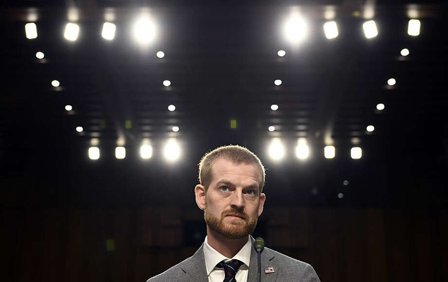 "Ebola survivor Dr. Kent Brantly, former Medical Director of Samaritan's Purse Ebola Care Center in Monrovia, Liberia, waits to testify before the Senate Appropriations Subcommittee on Labor, Health and Human Services, and Education joint hearing on, ""Ebola in West Africa: A Global Challenge and Public Health Threat,"" on Capitol Hill in Washington, Tuesday, Sept. 16, 2014. (AP Photo/Susan Walsh)"