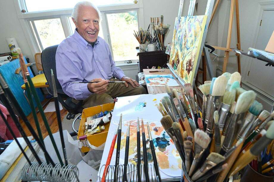 Paper Towel artist Ken Delmar in his Stamford studio.