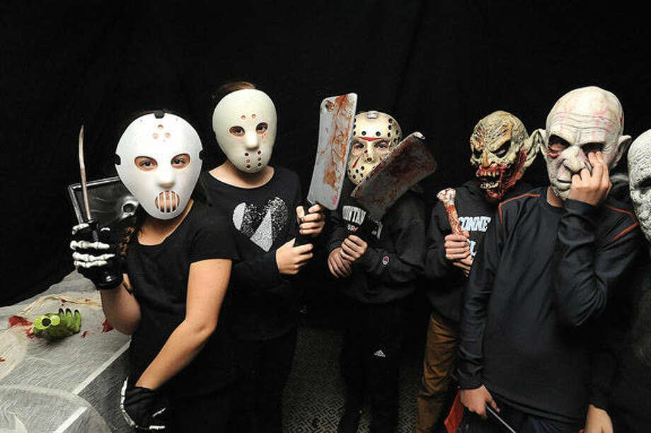 Haunted house costumes Sunday at the Rowayton Commiunity Center's Halloween Celebration on Sunday. Hour photo/Matthew Vinci
