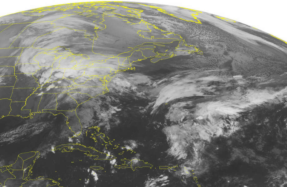 This NOAA satellite image taken Wednesday, Oct. 28, 2015, at 12:45 a.m. EDT shows a large storm developing over the Eastern half of the country. This is creating areas of rain from the Great Lakes to the Mid-Atlantic. Its cold front is stretching into Florida with rain and thunderstorms. The storm is moving to the northeast and will spread into the Northeast. (Weather Underground via AP)