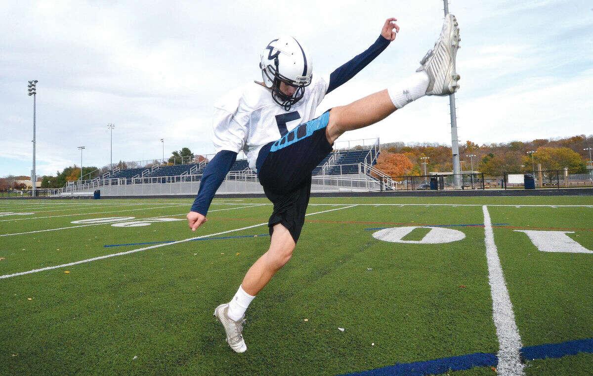 Hour Photo/Alex von Kleydorff Wilton Football's Will Sullivan