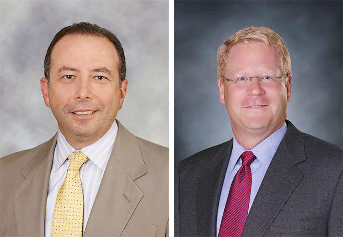 Republican Common Council candidates for Disitrict E John G. Bazzano and David T. McCarthy.