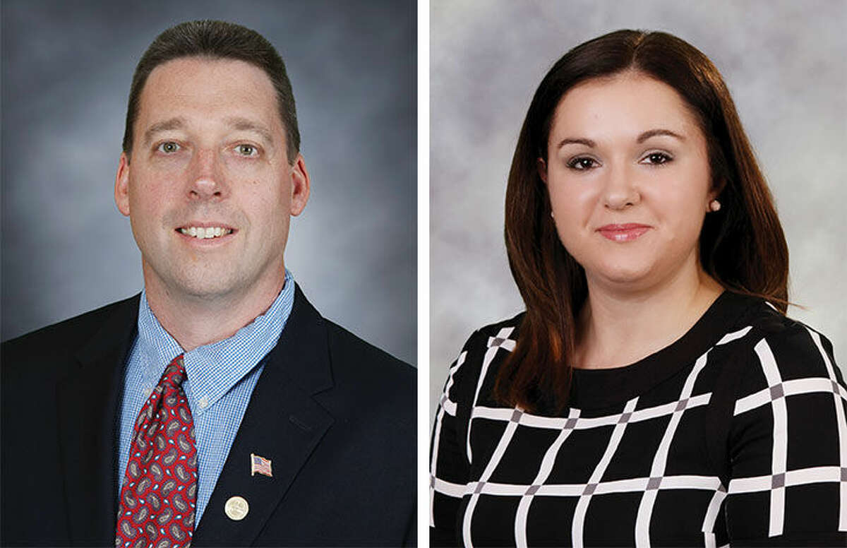 Republican District D Common Council candidates Joseph P. Beggan and Shannon O'Toole Giandurco.