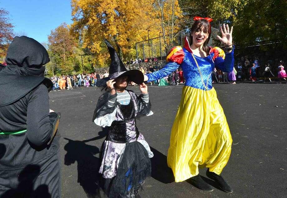 Hour Photo/Alex von Kleydorff The Rowayton Elementary School's Halloween parade