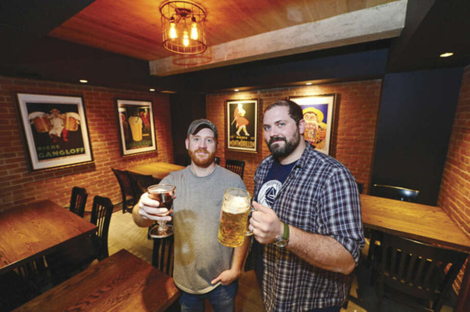 Hour photo / Erik Trautmann Rothbrad Ale + Larder chef Adam Roytman and and owner Joe Farrell at the new Westport restaurant at 90 Post Road East.