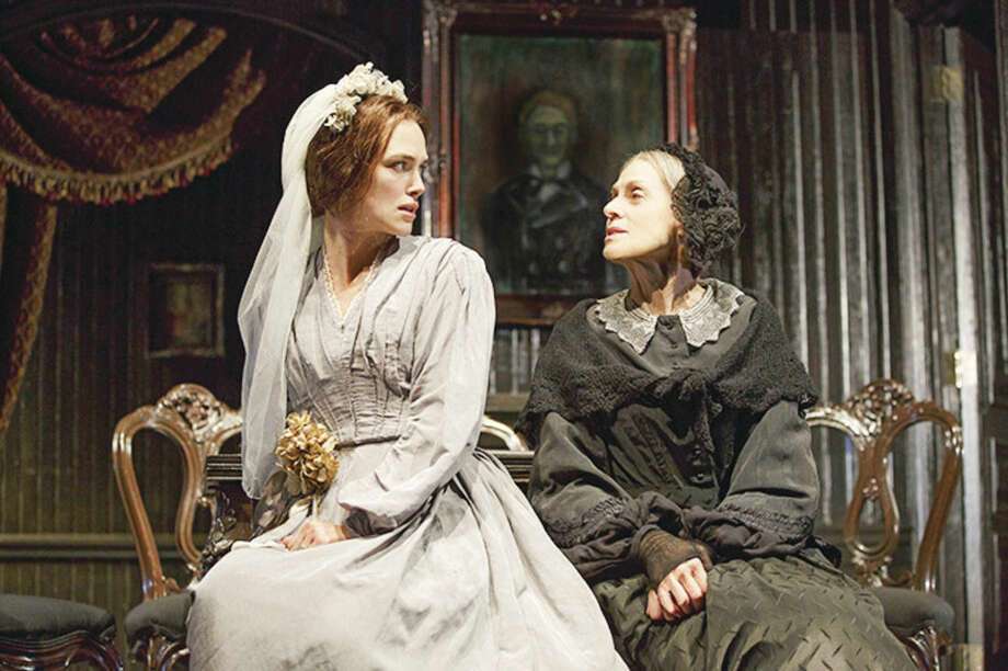 "Joan Marcus/Polk & Co. via APIn this image released by Polk & Co., Keira Knightley, left, and Judith Light appear during a performance of ""Therese Raquin,"" at the Studio 54 theater in New York."