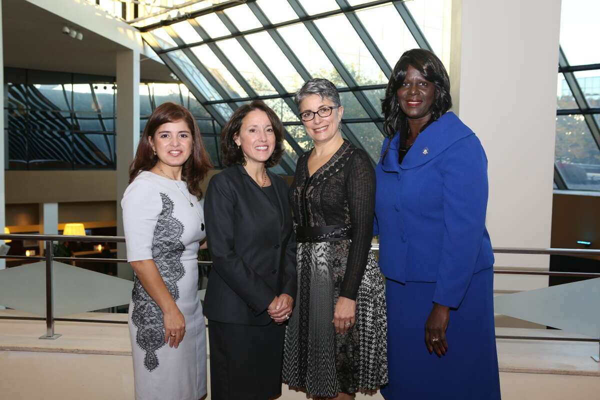 State Rep. Patricia Billie Miller with Paola Hernandez (owner of TropiGlace and winner of the WBDC's Deb Ziegler Award for Entrepreneurial Excellence)Jill Humel (President of Anthem Blue Cross and Blue Shield and winner of the WBDC Impact Award) and WBDC President Fran Pastore.