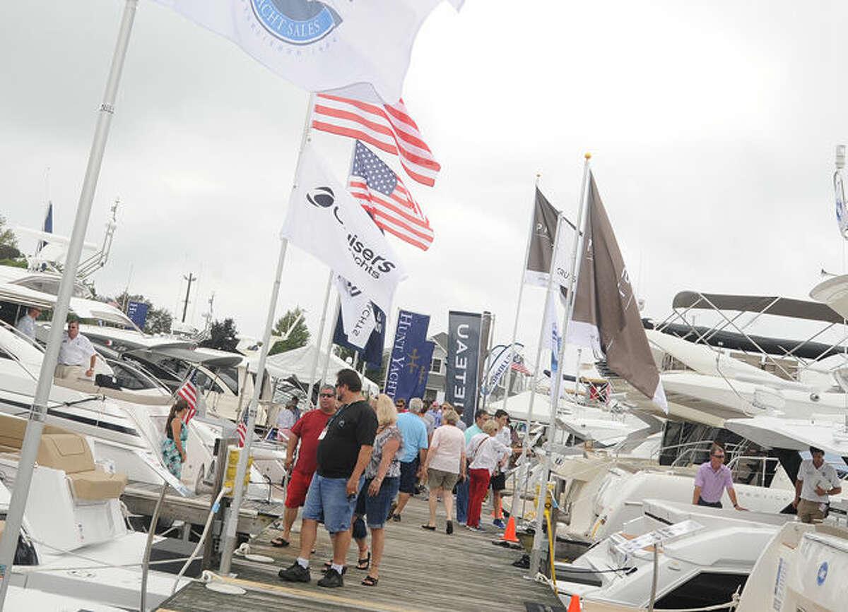 The Norwalk Boat Show held at Norwalk Cove Marina on Sunday. Hour photo/Matthew Vinci