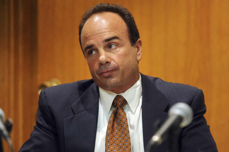 FILE - In this Sept. 11, 2012, file photo, former Bridgeport Mayor Joseph Ganim appears in Superior Court, in Bridgeport, Conn. Ganim, who spent seven years behind bars for corruption, enters the Tuesday, Nov. 3, 2015, election as the endorsed candidate of the hard-luck city's most powerful party after defeating two-term incumbent Mayor Bill Finch in the Democratic primary. (Ned Gerard/Hearst Connecticut Media via AP) MANDATORY CREDIT