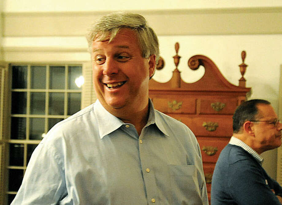 Brian Lilly Tuesday at Old Town Hall after the election. Photo/Matthew Vinci