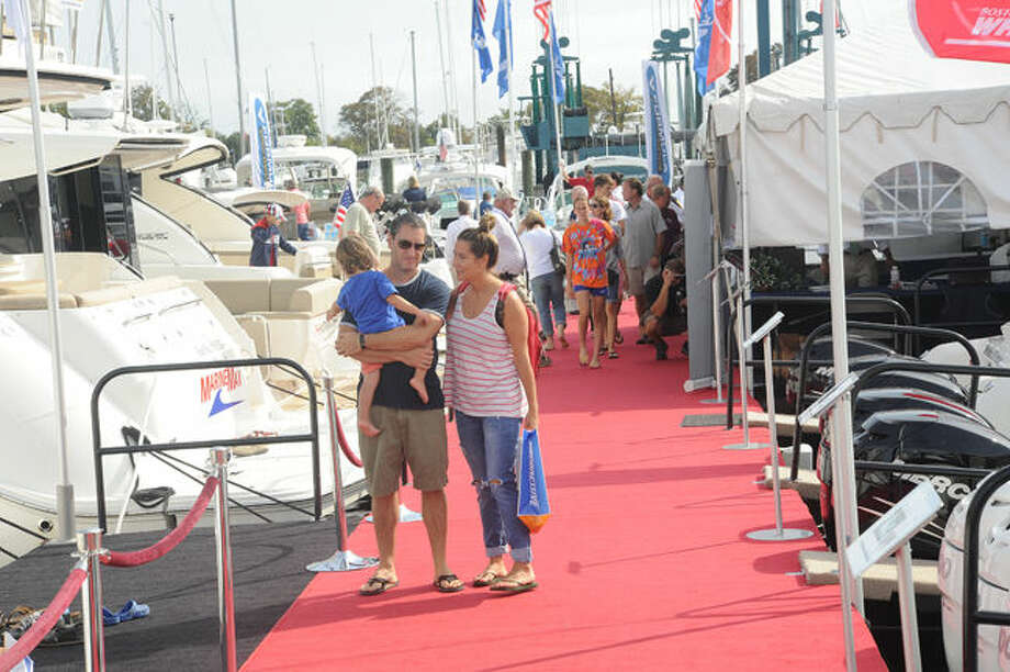 The Norwalk Boat Show held at Norwalk Cove Marina on Sunday. Hour photo/Matthew Vinci