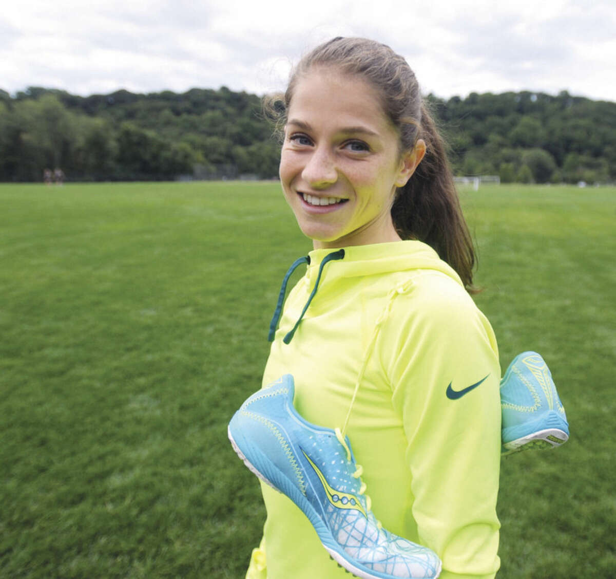 Hour photo/John Nash Ericka Randazzo is a Norwalk resident who runs for Westhill High School. An injury pushed her to switch from soccer to cross country.