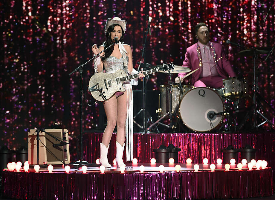 Kacey Musgraves performs at the 49th annual CMA Awards at the Bridgestone Arena on Wednesday, Nov. 4, 2015, in Nashville, Tenn. (Photo by Chris Pizzello/Invision/AP)