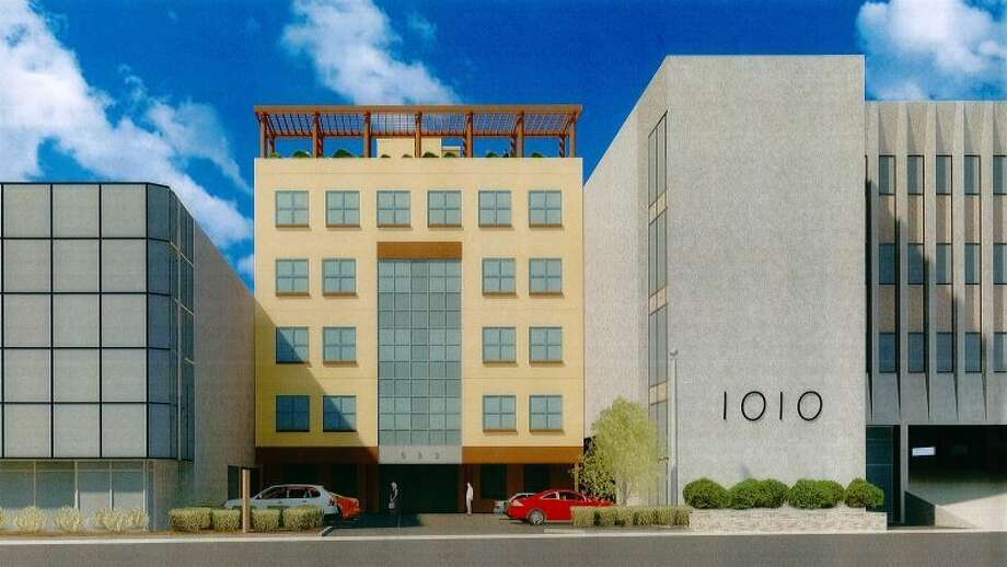 Rendering of the building containing 48 low-income senior apartments.