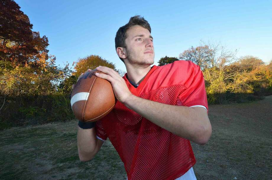 Hour Photo/Alex von Kleydorff Norwalk Quarterback Krishtjan Frrokaj