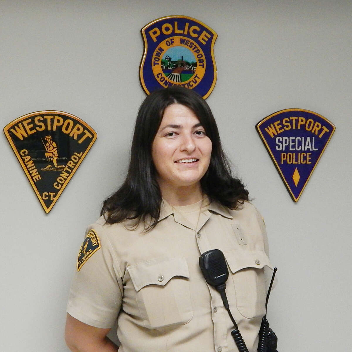 Contributed photo Gina Gambino was recently named Animal Control Officer for the town of Westport.