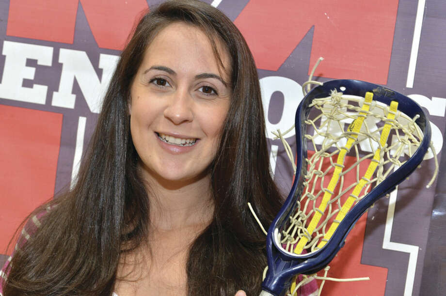 Hour Photo/Alex von KleydorffMcMahon's new girls lacrosse coach Amanda Spatola brings college experience to the Senators squad.