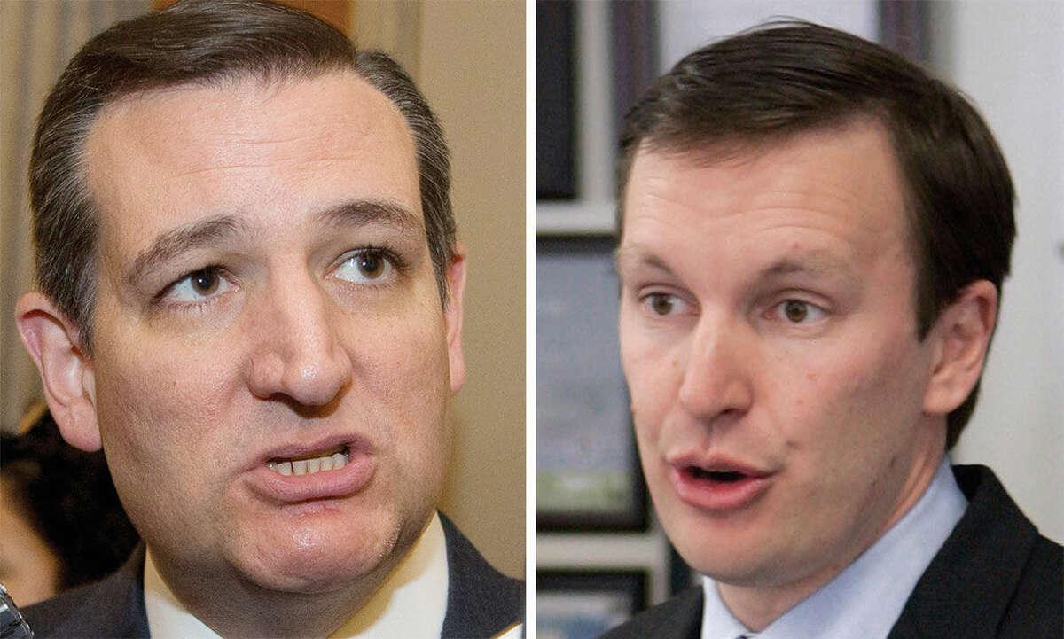 AP photos Sen. Ted Cruz, left, and Sen. Chris Murphy, right.