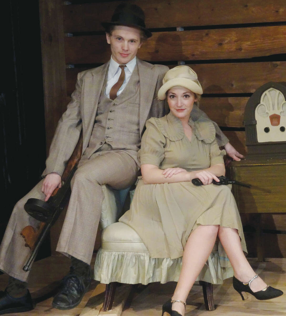 How do noted bank robbers and murderous lovers spend their free time? Find out at Curtain Call's production of Bonnie and Clyde, playing in The Kweskin Theatre, Stamford, November 13 - December 12. This is the first time this new musical has been performed in the area and stars in the title roles: Arielle Boutin and William Bednar.