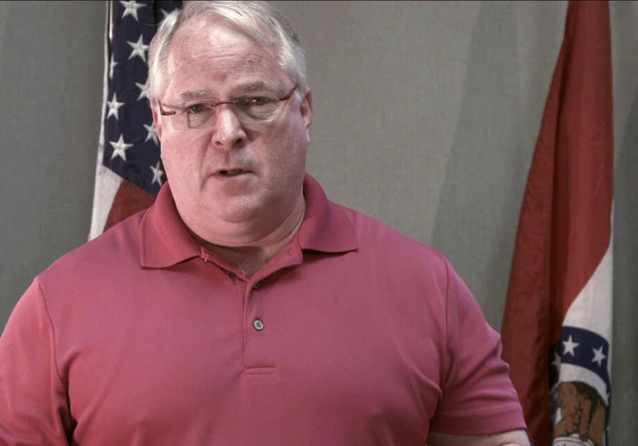 In this frame grab provided Thursday, Sept. 25, 2014 by Devin James Group is Ferguson, Mo., Police Chief Tom Jackson during a video apology to the community of Ferguson and the family of Michael Brown. Jackson said Brown's body remained on the street for too long after he was killed. (AP Photo/Devin James Group)
